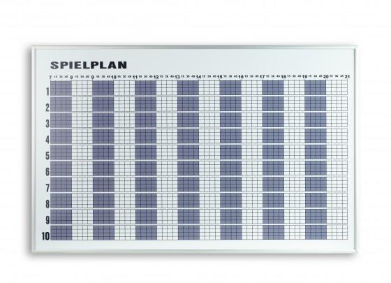 Spielplanbelegungstafel für 6 Plätze Maße: ca. 120 x 49 cm