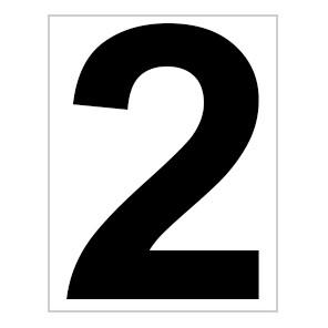 Platz - Ziffer - Schild - Nr. 2