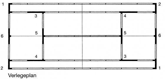 Linien-Element für ASS-Line - 5 cm gerade Ausführung, Länge: 2,50 m