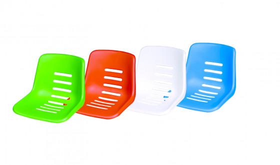 Sitzschale für Schiedsrichterstuhl, Farbe: weiß