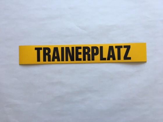 """Magnetschild """"Trainerplatz"""" ca. 60 mm breit"""