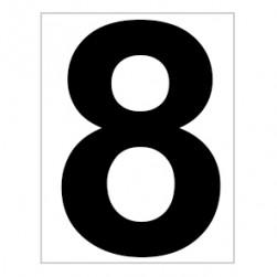 Platz - Ziffer - Schild - Nr. 8