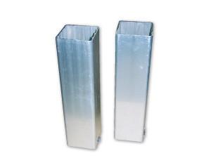Bodenhülsen für Vierkant - Pfosten 80 x 80 mm