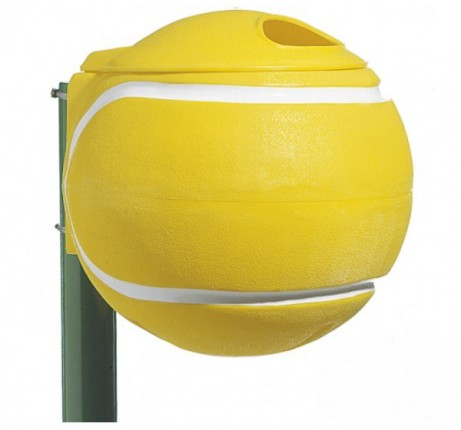 Abfallbehälter Ballform - gelb Durchmesser: ca. 50 cm