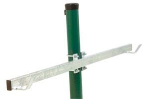 ASS - Schleppnetz- Doppelhalter inkl. Befestigungsschelle für Zaunpfosten 60 mm