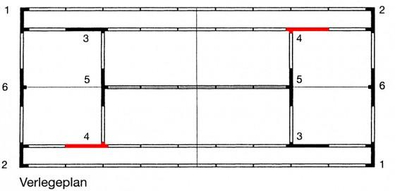 Eck - Verbindungselement 4 für ASS - Linie - 5 cm Einzellinie / Aufschlagspielfeld