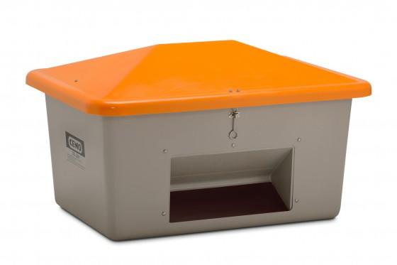 Ziegelmehl - Box 550 l mit Entnahmeöffnung