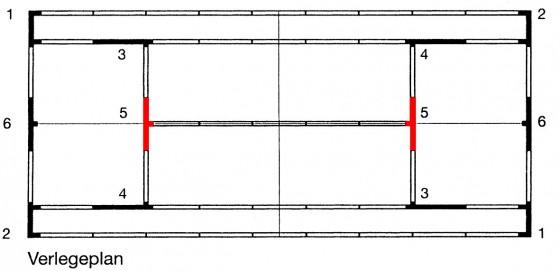 T - Stück - Element Aufschlaglinie 5 für ASS - Linie - 5 cm