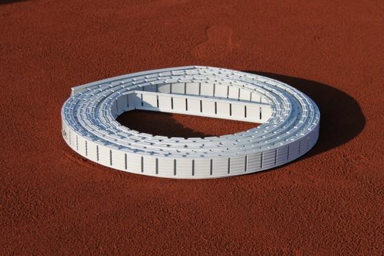 Ersatz - IDEALA - Tennislinie 4 cm - Weiß