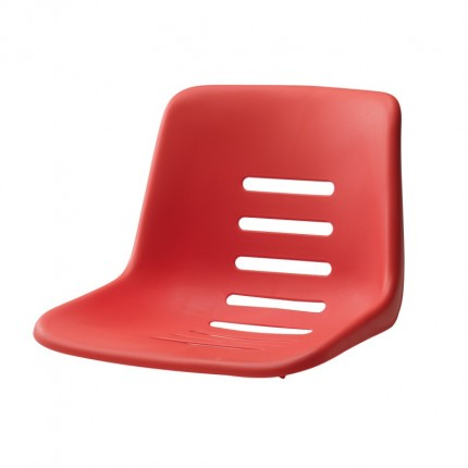 Sitzschale für Schiedsrichterstuhl, Farbe: rot zum Aufstecken