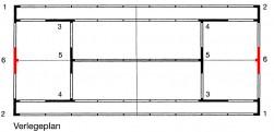 T - Stück - Element Grundlinie 6 für ASS - Linie - 5 cm