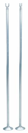 Single - Stangen mit Alu-Tellerfuß
