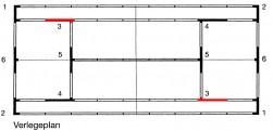Eck-Verbindungselement 3 für ASS-Linie - 5 cm Einzellinie / Aufschlagspielfeld