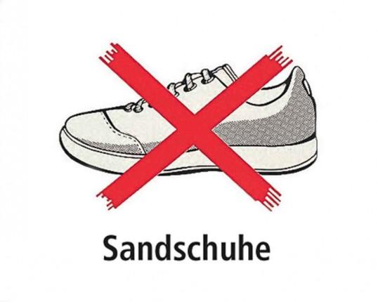 Sandschuh - Tafel - ca. 30 x 30 cm