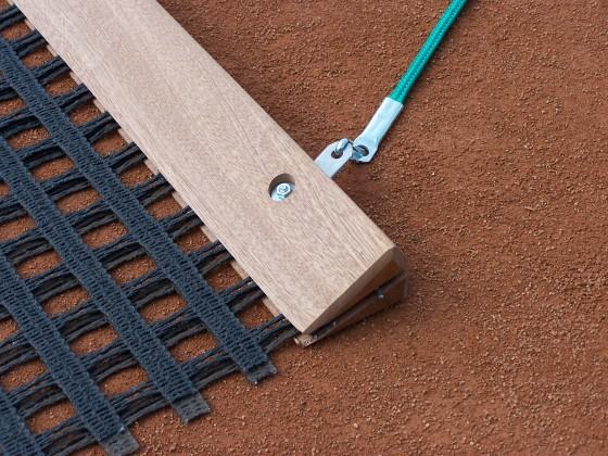 Ersatz - Schleppnetz - Balken - Holz