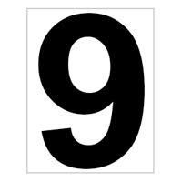 Platz - Ziffer - Schild - Nr. 9