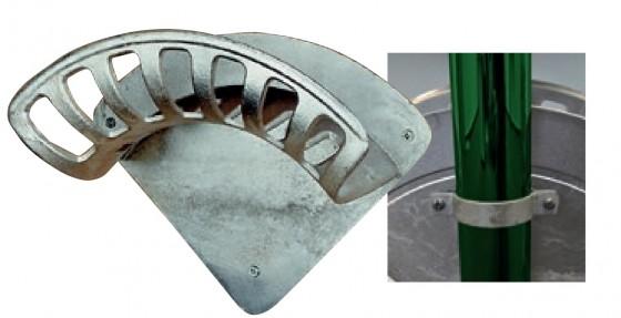 Schlauchhalter mit Schellen Kapazität: ca. 50 m Schlauch 3/4''