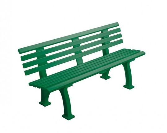Tennisplatz - Sitzbank mit Lehne Länge: 1,50 m - Farbe: grün